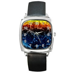 Abstract Background Square Metal Watch by Nexatart