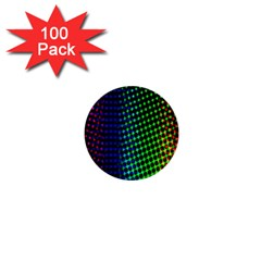 Digitally Created Halftone Dots Abstract Background Design 1  Mini Buttons (100 Pack)