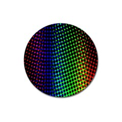 Digitally Created Halftone Dots Abstract Background Design Magnet 3  (round)