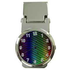 Digitally Created Halftone Dots Abstract Background Design Money Clip Watches