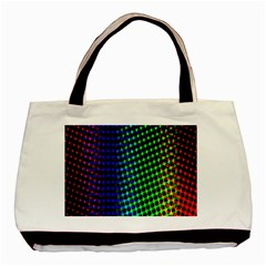 Digitally Created Halftone Dots Abstract Background Design Basic Tote Bag by Nexatart