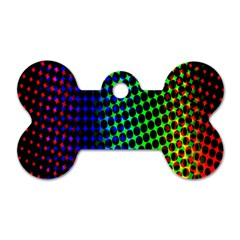 Digitally Created Halftone Dots Abstract Background Design Dog Tag Bone (two Sides) by Nexatart