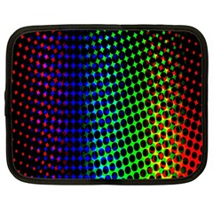 Digitally Created Halftone Dots Abstract Background Design Netbook Case (large) by Nexatart