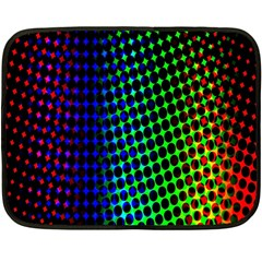 Digitally Created Halftone Dots Abstract Background Design Double Sided Fleece Blanket (mini)  by Nexatart