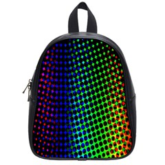 Digitally Created Halftone Dots Abstract Background Design School Bags (small)  by Nexatart