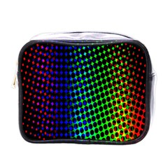 Digitally Created Halftone Dots Abstract Background Design Mini Toiletries Bags