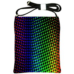 Digitally Created Halftone Dots Abstract Background Design Shoulder Sling Bags