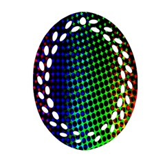 Digitally Created Halftone Dots Abstract Background Design Ornament (oval Filigree)