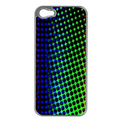 Digitally Created Halftone Dots Abstract Background Design Apple Iphone 5 Case (silver) by Nexatart