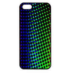Digitally Created Halftone Dots Abstract Background Design Apple Iphone 5 Seamless Case (black) by Nexatart