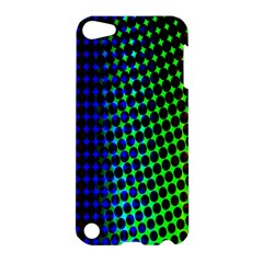 Digitally Created Halftone Dots Abstract Background Design Apple Ipod Touch 5 Hardshell Case by Nexatart