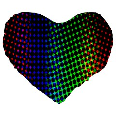 Digitally Created Halftone Dots Abstract Background Design Large 19  Premium Heart Shape Cushions