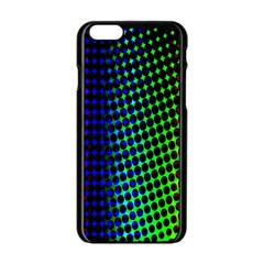 Digitally Created Halftone Dots Abstract Background Design Apple Iphone 6/6s Black Enamel Case by Nexatart
