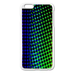 Digitally Created Halftone Dots Abstract Background Design Apple Iphone 6 Plus/6s Plus Enamel White Case