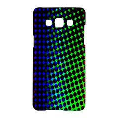 Digitally Created Halftone Dots Abstract Background Design Samsung Galaxy A5 Hardshell Case  by Nexatart