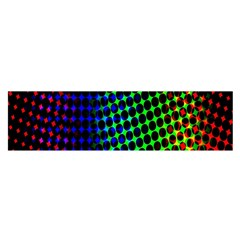 Digitally Created Halftone Dots Abstract Background Design Satin Scarf (oblong)