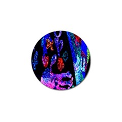 Grunge Abstract In Black Grunge Effect Layered Images Of Texture And Pattern In Pink Black Blue Red Golf Ball Marker (10 Pack)
