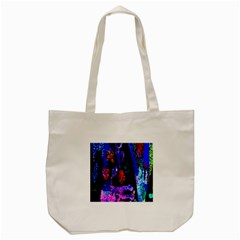 Grunge Abstract In Black Grunge Effect Layered Images Of Texture And Pattern In Pink Black Blue Red Tote Bag (cream) by Nexatart
