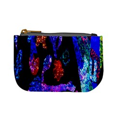 Grunge Abstract In Black Grunge Effect Layered Images Of Texture And Pattern In Pink Black Blue Red Mini Coin Purses