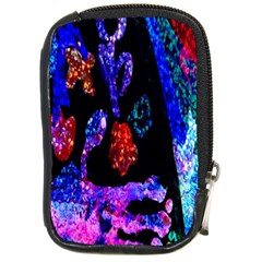 Grunge Abstract In Black Grunge Effect Layered Images Of Texture And Pattern In Pink Black Blue Red Compact Camera Cases by Nexatart