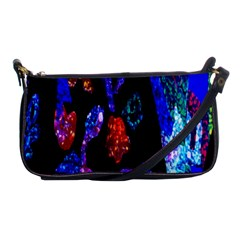 Grunge Abstract In Black Grunge Effect Layered Images Of Texture And Pattern In Pink Black Blue Red Shoulder Clutch Bags by Nexatart