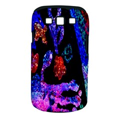 Grunge Abstract In Black Grunge Effect Layered Images Of Texture And Pattern In Pink Black Blue Red Samsung Galaxy S Iii Classic Hardshell Case (pc+silicone)