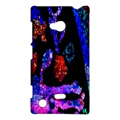 Grunge Abstract In Black Grunge Effect Layered Images Of Texture And Pattern In Pink Black Blue Red Nokia Lumia 720 by Nexatart