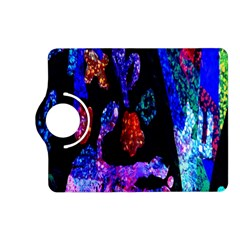 Grunge Abstract In Black Grunge Effect Layered Images Of Texture And Pattern In Pink Black Blue Red Kindle Fire Hd (2013) Flip 360 Case by Nexatart