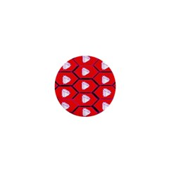 Red Bee Hive Background 1  Mini Magnets by Nexatart
