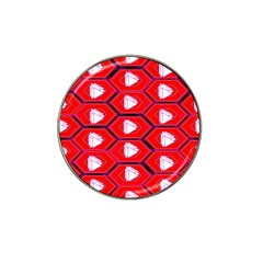 Red Bee Hive Background Hat Clip Ball Marker (4 Pack) by Nexatart
