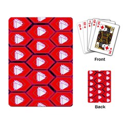 Red Bee Hive Background Playing Card