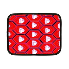 Red Bee Hive Background Netbook Case (small)