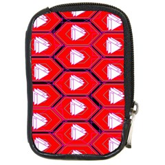 Red Bee Hive Background Compact Camera Cases by Nexatart