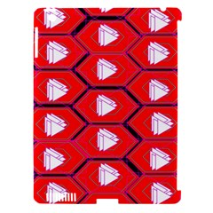 Red Bee Hive Background Apple Ipad 3/4 Hardshell Case (compatible With Smart Cover) by Nexatart