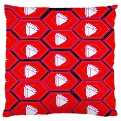 Red Bee Hive Background Large Cushion Case (one Side)