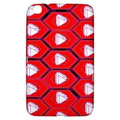 Red Bee Hive Background Samsung Galaxy Tab 3 (8 ) T3100 Hardshell Case
