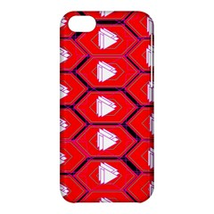 Red Bee Hive Background Apple Iphone 5c Hardshell Case by Nexatart