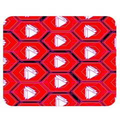 Red Bee Hive Background Double Sided Flano Blanket (medium)