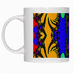 Digital Kaleidoscope White Mugs by Nexatart