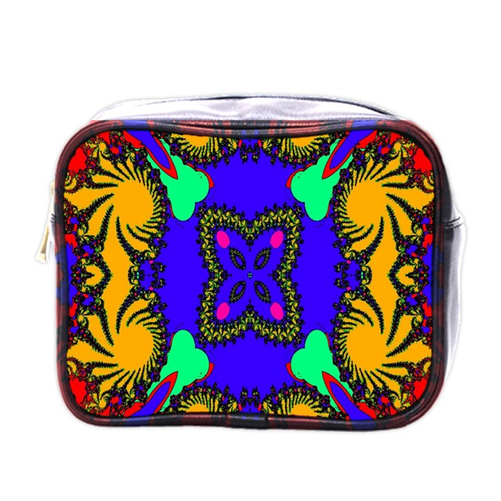 Digital Kaleidoscope Mini Toiletries Bags