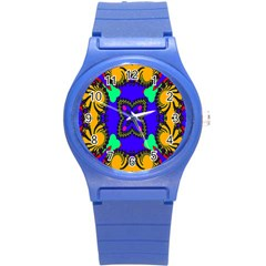 Digital Kaleidoscope Round Plastic Sport Watch (s) by Nexatart
