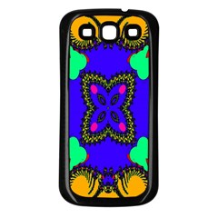 Digital Kaleidoscope Samsung Galaxy S3 Back Case (black) by Nexatart