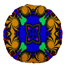 Digital Kaleidoscope Large 18  Premium Flano Round Cushions by Nexatart
