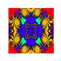 Digital Kaleidoscope Small Satin Scarf (square) by Nexatart