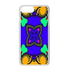 Digital Kaleidoscope Apple Iphone 7 Plus White Seamless Case by Nexatart
