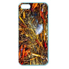 Abstract In Orange Sealife Background Abstract Of Ocean Beach Seaweed And Sand With A White Feather Apple Seamless Iphone 5 Case (color) by Nexatart