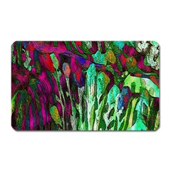 Bright Tropical Background Abstract Background That Has The Shape And Colors Of The Tropics Magnet (rectangular)