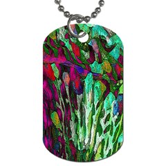 Bright Tropical Background Abstract Background That Has The Shape And Colors Of The Tropics Dog Tag (One Side) by Nexatart