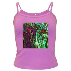 Bright Tropical Background Abstract Background That Has The Shape And Colors Of The Tropics Dark Spaghetti Tank