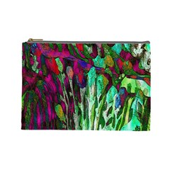Bright Tropical Background Abstract Background That Has The Shape And Colors Of The Tropics Cosmetic Bag (large)